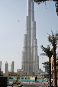 The 808 meter high Burj Dubai, biggest man made structure in the world....