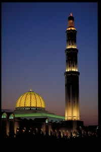 the Sultans mosque by night...not far away from our flat.