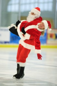 Santa Claus on ice? Why not? Santa here is one very good friend, Tomas Sjögren who runs Explorers Web together with his great wife Tina, who is in Santas arms here...they will get a white Christmas in Denver, Colorado. And me?