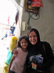 Tricia with a young Yemeni girl. One of many fantastic Yemenis she continually comes across and falls in love with.