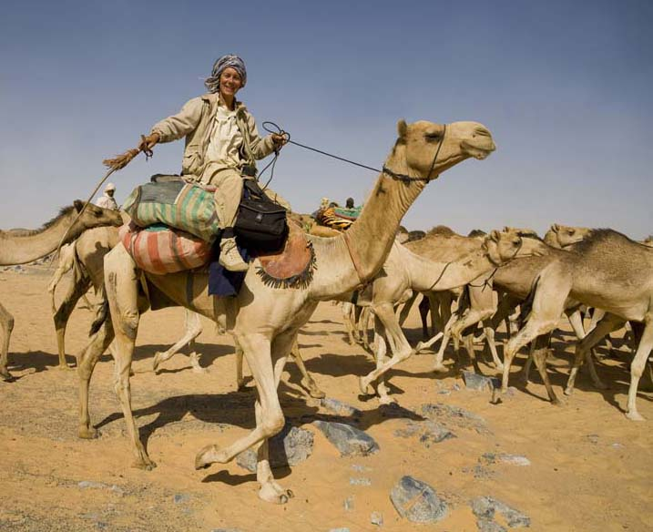 Arita Baaijens, one of the worlds foremost camel travellers!