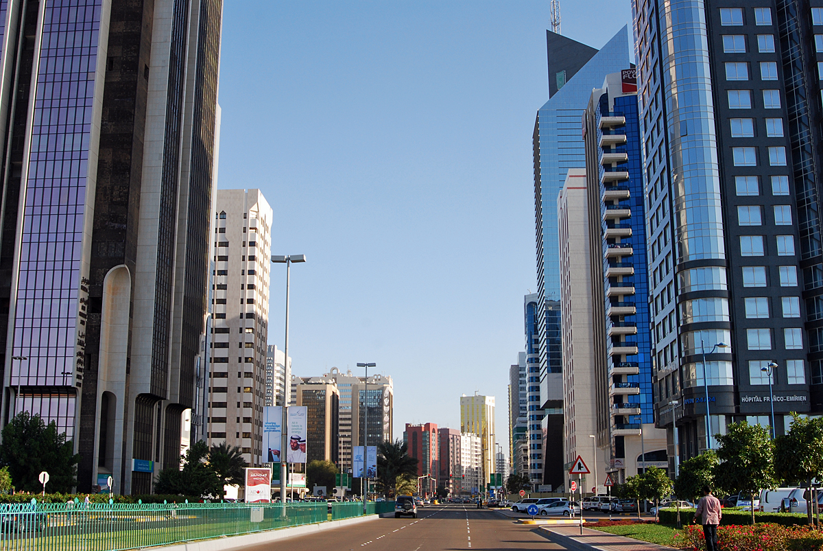 Downtown Abu Dhabi - the richest city in the world