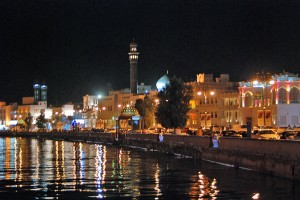 Muttrah by night - climate this time of the year is fantastic!