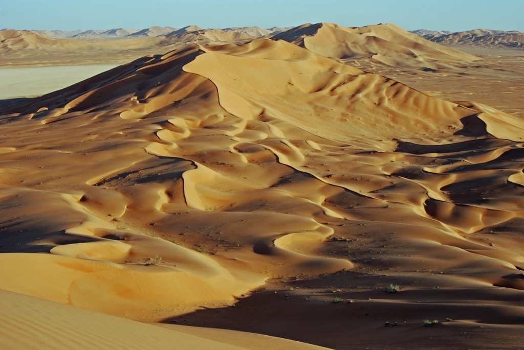 Rub Al-Khali - the biggest sand dune desert in the world....