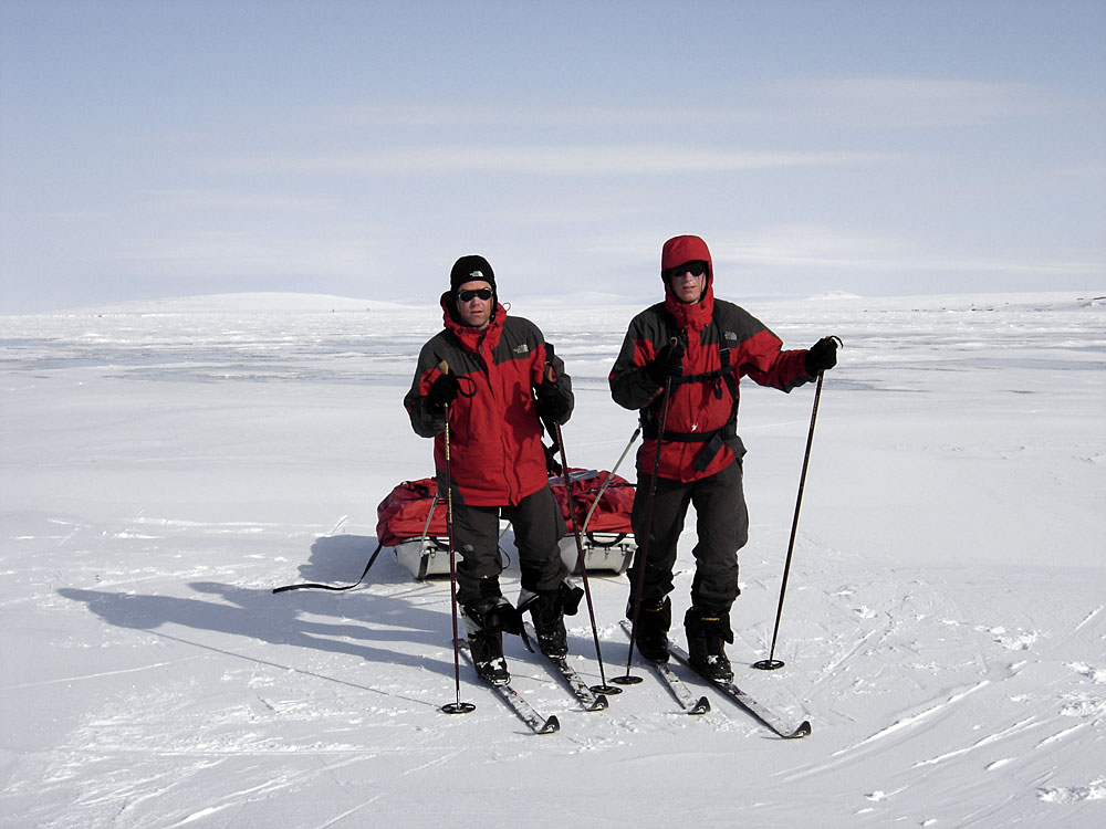Johan Ivarsson and myself reaching Ambarchik Bay 2005, which turned out to be a global success, but since then, we have done much......life has a tendency to take over....