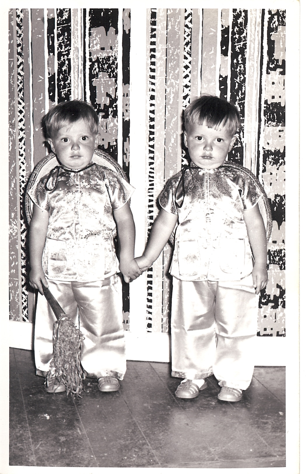 Barry with twin brother, before they new much about their sexuality.