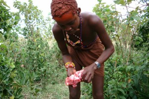 The food amongst the maasai wasn´t always easy to digest.....