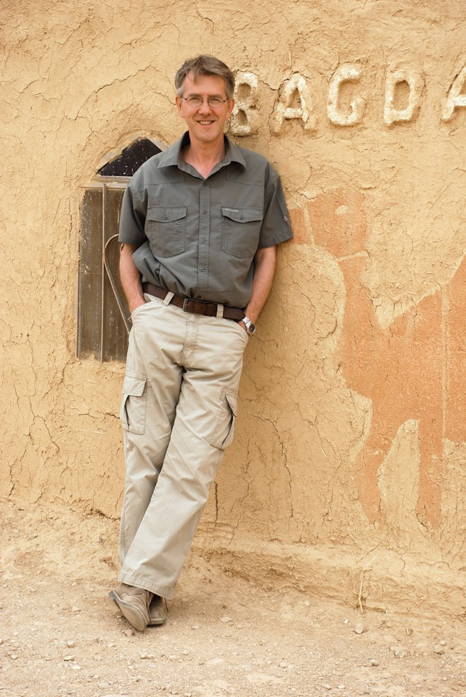 PHOTO 1 Urban Explorer Duncan J. D. Smith at Syria's Bagdad Cafe, on the road between Damascus and Palmyra
