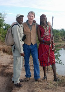 Duncan with a tracker and a Masai warrior in Kenya - Whether in the city or the country, at the end of the day a place is always best defined by its people