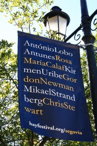 A bit odder was seeing your name all over town, together with really famous people.