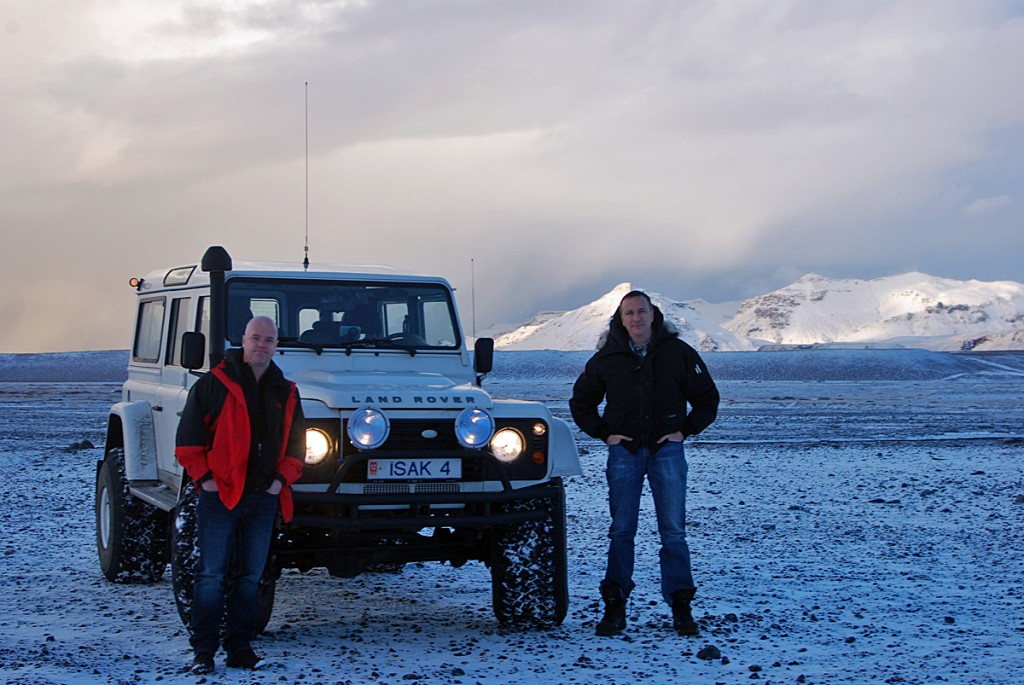Me and Jeff Willner (Owner of Kensington Tours) at Myrdalsjökull glacier. A Gentleman´s Exploration where we enjoyed a Gentlemen´s Exploration of Iceland, which can be described as amazing sights, amazing food, and a fitting end of fine whisky and cigars each night.