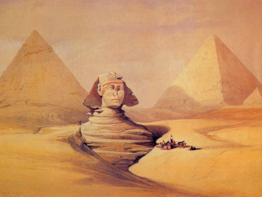 David Roberts-Sphinx painting