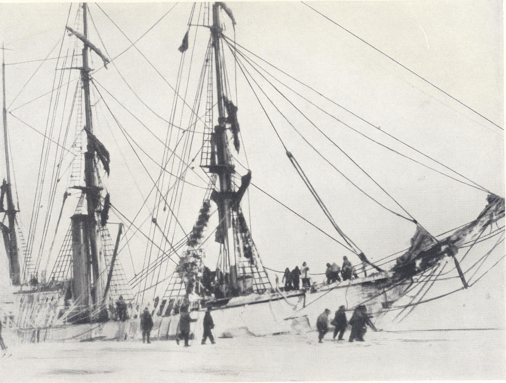 12 - The City of New York in the ice (Beyond the Barrier With Byrd, by Lieut. Harry Adams, USN)