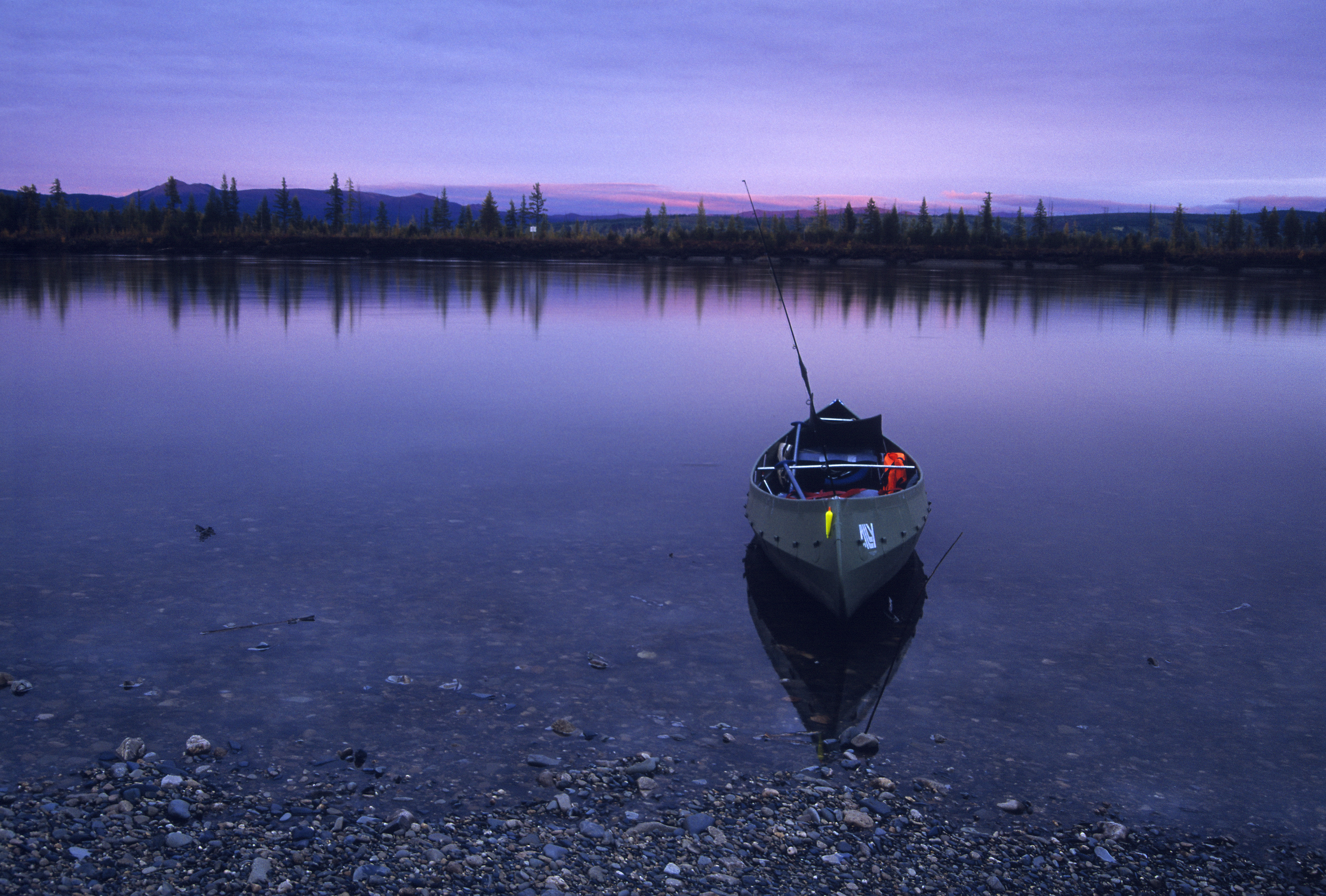sunset_canoe_kolyma