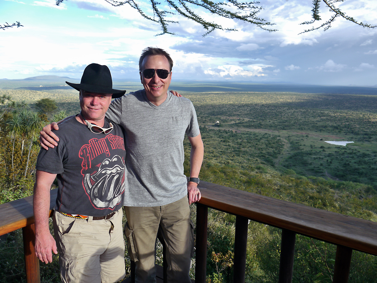 me and Jeff Willner, CEO of Kensington Tours, at loisaba Wilderness Lodge.