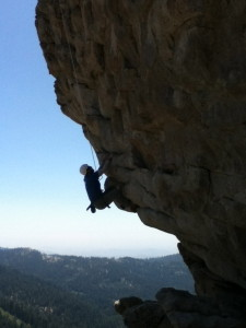 Top rope climbing in Sequoia National Forest